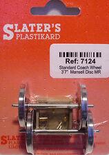 Slaters 7124 1 x Pair Std Mansell Coach Wheels & Brass Bearings Kit '0' Gauge T4