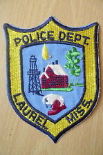 Patches: LAUREL MISS. USA POLICE DEPT PATCH (NEW* apx. 13x10 cm)