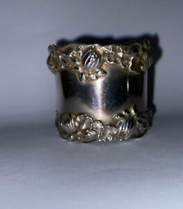 GORHAM Pond Lily Sterling Silver Napkin Ring. No Monogram