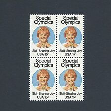 Special Olympics - Vintage Mint Set of 4 Stamps 39 Years Old!