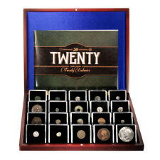 20 Coins From 20 Centuries 1st Through 20th Century Booklet & Wooden Box