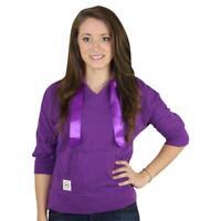 Tommy Girl Womens Purple Kangaroo Pocket Casual Hoodie Top Juniors S BHFO 7254