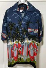 Hawaiian By Basix Mens XL Short Sleeve Button Front Shirt Multi Color Casual