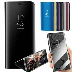 New! Huawei Y6 2019 Clear Smart Luxury Mirror Leather Flip with stand Case Cover