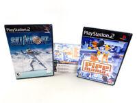 Playstation 2 Ski & Shot and Pipe Mania Video Game Bulk Lot