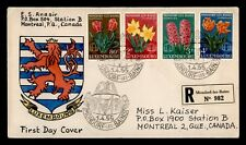 Dr Who 1955 Luxembourg Fdc Eka Hand Colored Cachet Flower Combo f72124