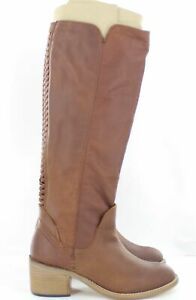 Dolce Vita Womens Gage Riding Boot Saddle Brown Leather Size 5 M US