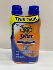 Banana Boat Sport Performance UltraMist Spray Sunscreen, Spf 30, 6 oz (2 Pack)