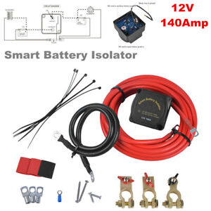 12V 140Amp Smart Automatically Dual Battery Isolator Voltage Sensitive Relay Kit