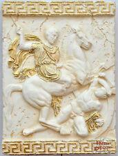 Wandrelief Relief 3D Alexander der Große Mäander Bild Wandbild Stuckgips
