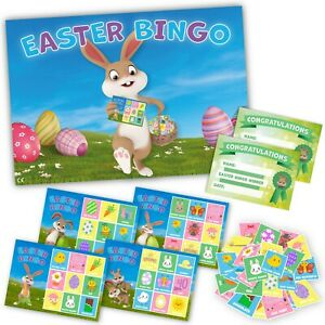 EASTER BINGO Easter Party Game family, friends, kids, school children, 20 player