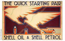 Post Card PUBLICITE ADS SHELL OIL n66 ILLUSTRATION R. B. STUDIOS