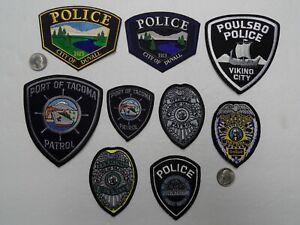 9 Lot WA WASHINGTON PD POLICE SHERIFF PORT PATROL patches
