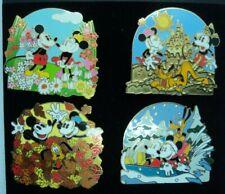 Disney Mickey/Minnie/Pluto Seasons Pin Set 4 Pins 2003