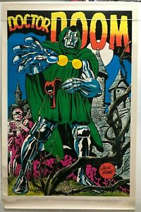 DOCTOR DOOM Poster Jack Kirby art Marvelmania 1970 Rare Mail Order Only