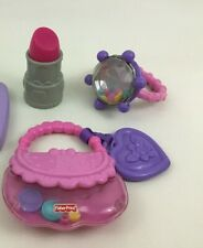 Baby Girl Toy 3pc Lot Ring Purse Rattle Lipstick Pink Toys Fisher Price