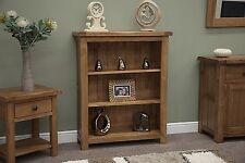 Denver small bookcase solid rustic oak living room office furniture