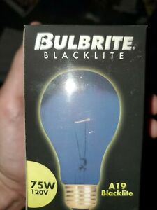 Bulbrite 75A/BL 75W Black Light A Shape Bulb for indoor desk lamps and fixtures