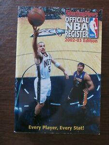2002-03 The Sporting News TSN Official NBA Register Jason Kidd on the Cover
