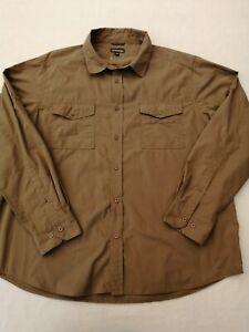 "Men's Craghoppers Solarshield trek shirt XXL 2XL chest 50"" long sleeves embroide"