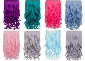 KOKO One Piece/Weft Curly Vibrant Colourful Clipin Heat Resistant Hair Extension