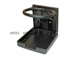 Universal Black Reinforced Folding Drink Cup Holder Mount for Car Truck Boats
