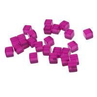 25 Purple Acrylic Dice Set Six Sided D6 Blank for Dungeons & Dragon Game Toy