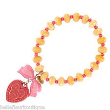 Tarina Tarantino Macaron Heart Charm Bracelet Pink & Nude *Made in California*