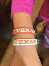 Lot 2 University Of Texas Longhorn Wrist Band Bracelets, Football, Basketball