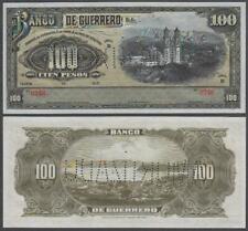 Mexico - Banco De Guerrero, 100 Pesos - AMORTIZADO, 1914, UNC, P-S302(c)