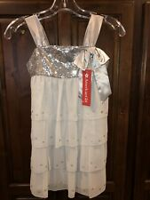 AMERICAN GIRL DRESS-SILVER SHIMMER-SIZE 7 NEW WITH TAGS