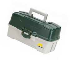 Plano Molding 620304 Fishing Tackle Box, Green Metallic/Off White, 3-Tray