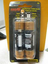 Cooper Bussmann 250V 50A Fuse (2) Pack #BP/FRN-R-50ID  New in Package Free Ship