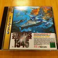 """SS """" Strikers 1945 """" Sega Saturn game software PSIKYO Used from Japan"""