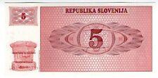 **   SLOVENIE     5  tolarjev   1990   p-3a    UNC   **