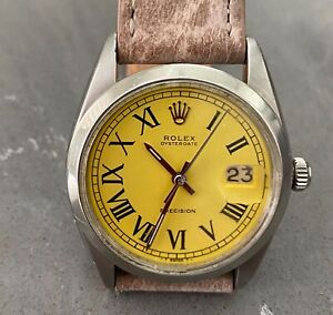 Rolex Oyster 34mm - Yellow Dial