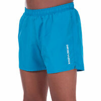 Mens Emporio Armani Ultra-Light Packable Swim Shorts in Blue.