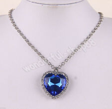 Hot Eternal Love The Heart Of The Ocean Ladies Crystal Charm Necklace Jewelry