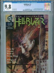1988 DC HELLBLAZER #1 1ST JOHN CONSTANTINE IN OWN TITLE CGC 9.8 WHITE BOX11