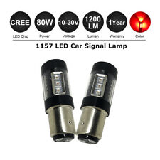 2x1157 BAY15D P21/5W CANBUS 80W CREE LED Car Tail Brake Signal Light Bulb 12-24V
