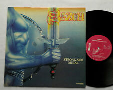 SAXON Strong arm metal FRENCH LP CARRERE 66.174 (1984) EX/EX+