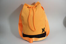 Hurley Orange Feedbag Style Tote Canvas Bookbag Carryall Tote Gymbag
