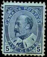 Canada #91 mint F-VF NG 1903 King Edward VII 5c blue CV$350.00