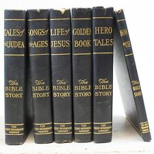 The Bible Story 6-Volume Book Set Rev. Hall & Wood 1917 King-Richardson Company
