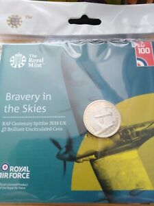 2018 Spitfire £2 coin BU pack. Sealed/Mint
