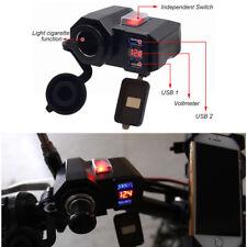 ATV Motorrad USB Ladegerät 4.2A Zigarettenanzünder Steckdose LED Spannungsmesser