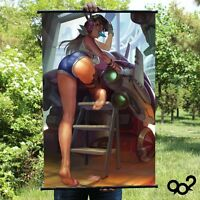 Overwatch D.va Hip Anime Poster Home Decor Wall Scroll Painting 40*60cm