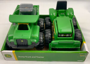 John Deere Dump Truck and Tractor TOMY Sand Toy Plastic New In Box 18 Months+