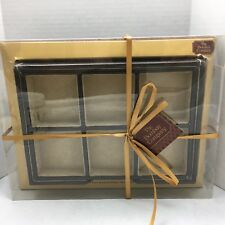 "The Bombay Company 2 Piece Brown Faux Leather Trinket Organizer NIB 9.1"" X 6.5"""
