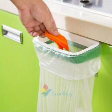 Green Kitchen Garbage Trash Bag Rack Attach Holder Cabinet Cupboard Portable A